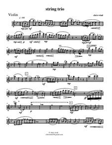 String trio: parte do violino by Chris Wind