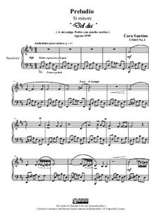 Preludio No.1 in si minore per piano, CS045 No.1: Preludio No.1 in si minore per piano by Santino Cara