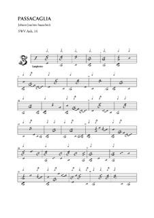 Passacaglia, SWV 14: Passacaglia by Johann Joachim Sautschek
