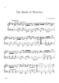 The Battle of Waterloo: Para Piano by George Frederick Anderson