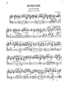 Romance in A Minor for Piano: Romance in A Minor for Piano by Clara Schumann
