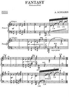 Fantasia for Two Piano Four Hands: Fantasia for Two Piano Four Hands by Alexander Scriabin