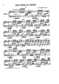 Two Concert Etudes for Piano, Op.10: No.1 by Giovanni Sgambati