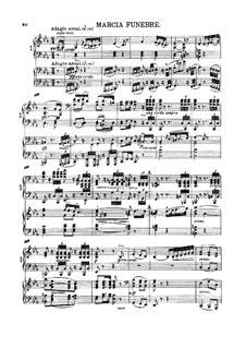 Symphony No.3 'Eroica', Op.55: movimento II-III, para dois pianos de quatro mãos by Ludwig van Beethoven