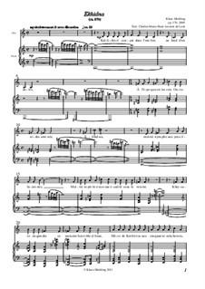 Ekhidna: Partitura Piano-vocal, Op.170 by Klaus Miehling