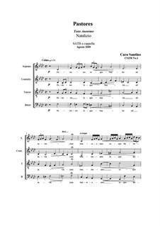 Pastores. SATB a cappella, CS158 No.1: Pastores. SATB a cappella by Santino Cara