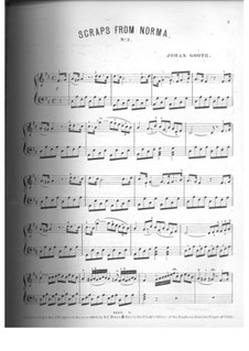 Potpourri on Themes: No.2, for piano by Vincenzo Bellini