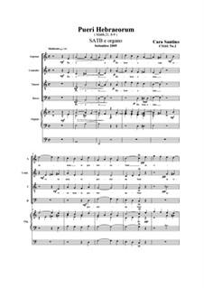 Pueri Hebraeorum. SATB e organo, CS161 No.2: Pueri Hebraeorum. SATB e organo by Santino Cara