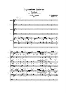 Mysterium Ecclesiae. SATB e organo, CS164 No.1: Mysterium Ecclesiae. SATB e organo by Santino Cara