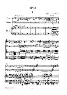 Piano Trio in G Minor, T.64 Op.15: partitura completa by Bedřich Smetana