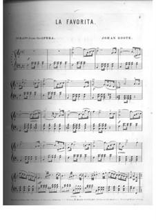 La favorita: Selectes Melodies, for Piano by Gaetano Donizetti