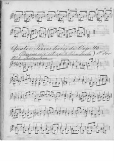 Six Little and Easy Pieces, Op.45: Pieces No.1-2, 5-6 by Fernando Sor
