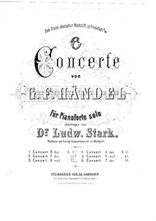 Concerto Grosso No.5 in D Major, HWV 323: Partitura piano by Georg Friedrich Händel