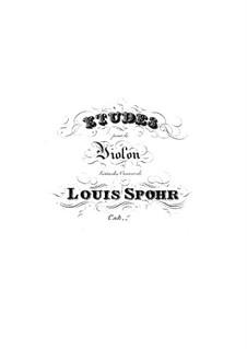 Etudes for Violin: livro II by Louis Spohr