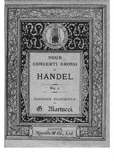 Concerto Grosso No.12 in B Minor, HWV 330: partitura para piano by Georg Friedrich Händel