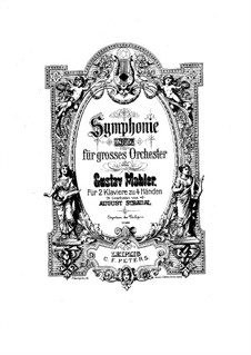 Symphony No.5 in C Sharp Minor: Movements I-II, for two pianos four hands by Gustav Mahler