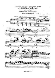 Concert Paraphrase on Waltz 'Village Swallows from Austria' by J. Strauss: Concert Paraphrase on Waltz 'Village Swallows from Austria' by J. Strauss by August Stradal