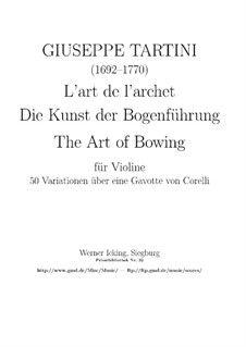 L'Arte dell'arco (The Art of Bowing), B.F11: Para Guitarra by Giuseppe Tartini