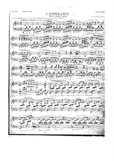 L'Espérance, Op.3: L'Espérance by Carl Tausig