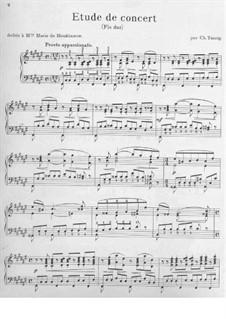 Concert Etude No.1: Concert Etude No.1 by Carl Tausig