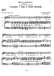 Six Romances, TH 105 Op.57: set completo by Pyotr Tchaikovsky