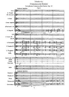 Francesca da Rimini, TH 46 Op.32: Partitura completa by Pyotr Tchaikovsky
