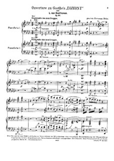 Egmont, Op.84: Overture, for two pianos four hands by Ludwig van Beethoven