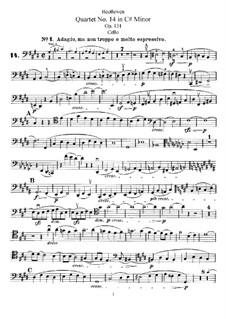 String Quartet No.14 in C Sharp Minor, Op.131: parte violoncelo by Ludwig van Beethoven