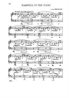 Farewell to the Piano: para um único musico (Editado por H. Bulow) by Ludwig van Beethoven