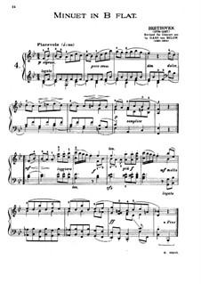 Minuet in B Flat Major: Minuet in B Flat Major by Ludwig van Beethoven