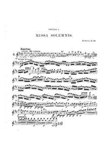 Missa Solemnis, Op.123: Sanctus – violins I part by Ludwig van Beethoven