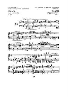 Sonata for Piano No.23 'Appassionata', Op.57: movimento I by Ludwig van Beethoven