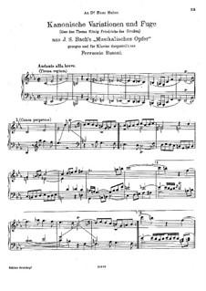 The Musical Offering, BWV 1079: Para Piano by Johann Sebastian Bach