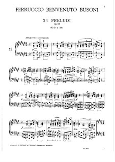 Twenty-Four Preludes for Piano, BV 181 Op.37: Preludes No.13-16 by Ferruccio Busoni