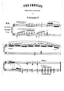 Preambles: Preambles by Adolf von Henselt