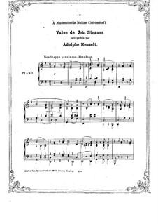 Waltz: valsa by Johann Strauss (Sohn)