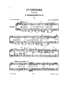 Movements I-II: Arrangement for two pianos – piano II part by Pyotr Tchaikovsky