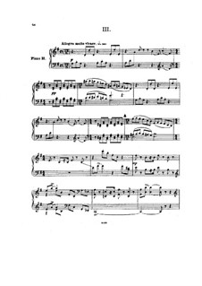 Movements III-IV: Arrangement for two pianos – piano II part by Pyotr Tchaikovsky