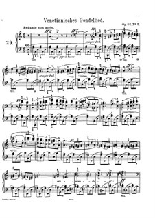 Songs without Words, Op.62: No.5 Venetian Boat Song by Felix Mendelssohn-Bartholdy