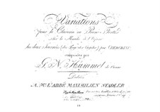 Variations on March from 'Les deux journées' by Cherubini, Op.9: Variations on March from 'Les deux journées' by Cherubini by Johann Nepomuk Hummel