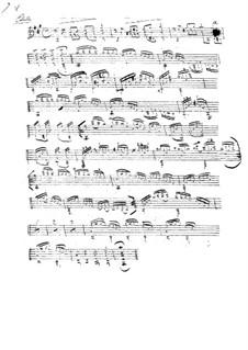 Etude in A Major: para guitarra (manuscrito) by Johann Kaspar Mertz