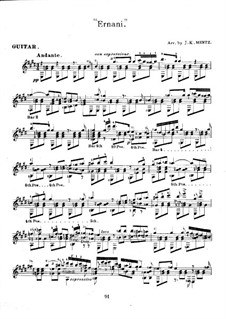 Ernani: melodias selecionadas para guitarra by Giuseppe Verdi