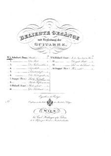 No.4 Ständchen (Serenade): para voz e guitarra by Franz Schubert