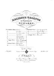 No.1 Liebesbotschaft (Message of Love): para voz e guitarra by Franz Schubert