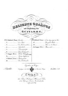 No.14 Die Taubenpost (The Pigeon Post): Partitura piano-vocal by Franz Schubert