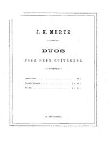 Barcarole and Impromptu for Two Guitars: partes by Johann Kaspar Mertz