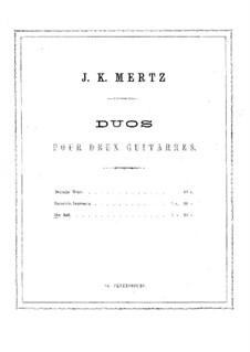 Der Ball. Duo for Two Guitars: partes by Johann Kaspar Mertz