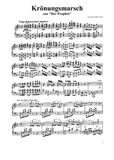 Le prophète (The Prophet): Coronation March, for Piano by Giacomo Meyerbeer