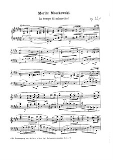 Three Pieces for Piano, Op.32: No 1 minueto by Moritz Moszkowski