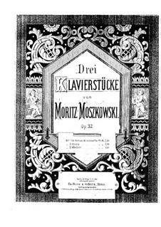 Three Pieces for Piano, Op.32: No.2 Etude by Moritz Moszkowski